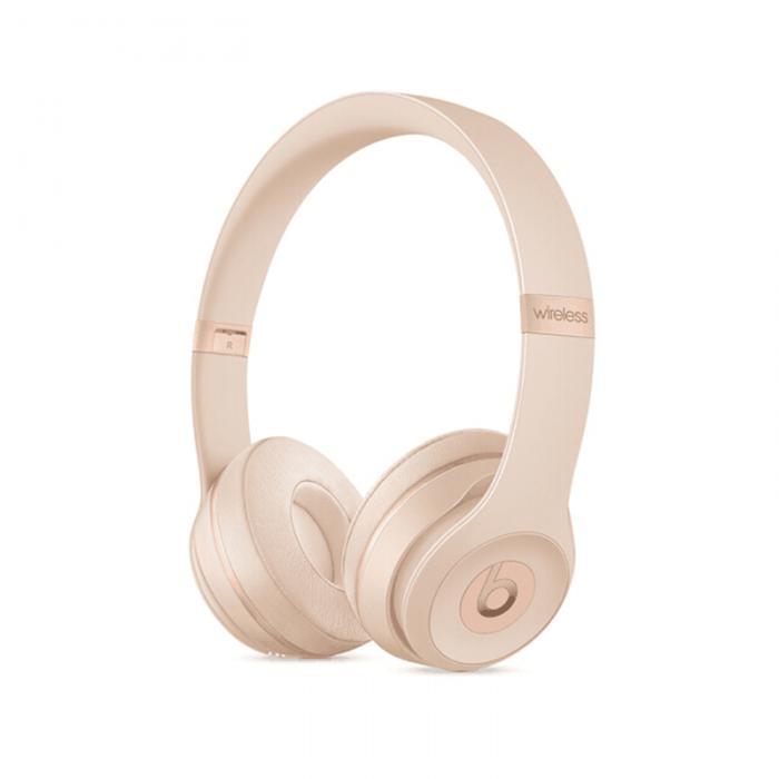 Beats solo3wireless 蓝牙耳机头戴式 solo3米奇 游戏运动手机耳机 折叠式 丝缎金